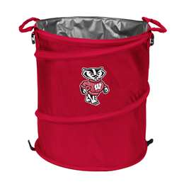 University of Wisconsin Badgers 3-IN-1 Cooler Trash Can Hamper