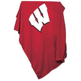 University of Wisconsin Badgers Sweatshirt Blanket 74 -Sweatshirt Blnkt