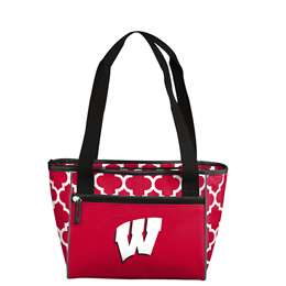 University of Wisconsin Badgers Quatrefoil 16 Can Cooler Tote 83 - 16 Cooler Tote