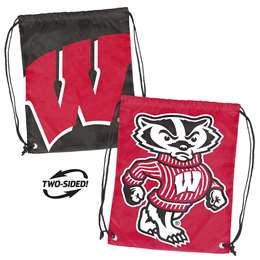 University of Wisconsin Badgers Doubleheader Backsack 87D - Dbl Head Strin