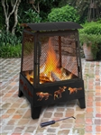 Haywood Fire Pit with Accessories - Wildlife - Black