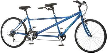 Pacific Dualie Tandem Bicycle with 26 inch Wheels,Blue