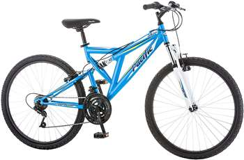 "Pacific Women's Shire Full Suspension Bicycle with 26"" Wheels, Blue"