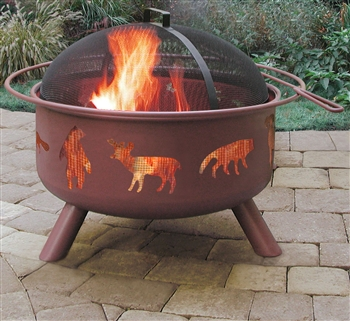 Landmann Firepit with Accessories - Big Wildlife - Georgia Clay