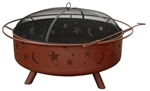 Super Sky Fire Pit - Georgia Clay - Stars & Moons