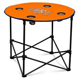 Sam Houston State University Round Folding Table with Carry Bag