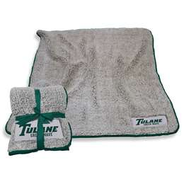 "Tulane University Greenwave Frosty Fleece Blanket 60"" X 50"""
