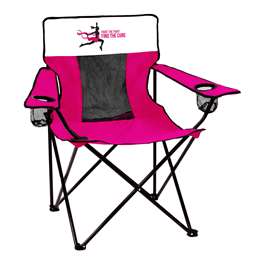BCA Breast Cancer Awareness Deluxe Elite Chair Folding Tailgate Camping Chairs