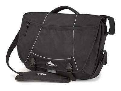 High Sierra Messenger Backpack Tank Black