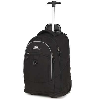 High Sierra Wheeled Backpack Chaser Black