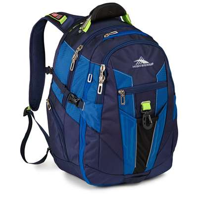 High Sierra Business Backpack True Navy/Royal Cobalt/Chartreuse