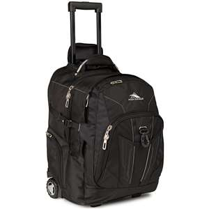 High Sierra Wheeled Backpack Black
