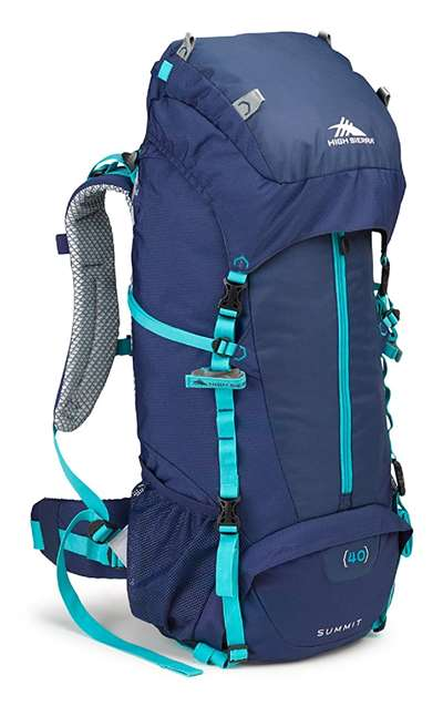 High Sierra SUMMIT 40W FRAME PACK TRUE NAVY/TRUE NAVY/TROP.TEAL