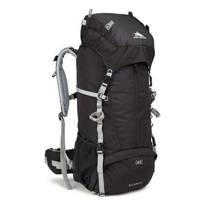 High Sierra SUMMIT 45 FRAME PACK BLACK/BLACK/SILVER