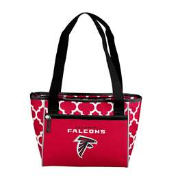 Atlanta Falcons Quatrefoil 16 Can Cooler Tote