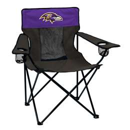 Baltimore Ravens Elite Folding Chair with Carry Bag