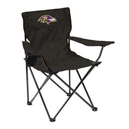 Baltimore Ravens Quad Folding Chair with Carry Bag