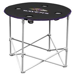 Baltimore Ravens Round Folding Table with Carry Bag