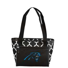 Carolina Panthers Quatrefoil 16 Can Cooler Tote