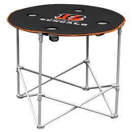 Cincinnati Bengals Round Folding Table with Carry Bag