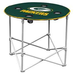Green Bay Packers Round Folding Table with Carry Bag