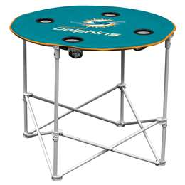 Miami Dolphins  Round Folding Tailgate Table