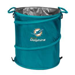 Miami Dolphins  Collapsible 3-IN-1 Cooler Hamper Trash Can