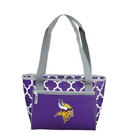 Minnesota Vikings Quatrefoil 16 Can Cooler Tote
