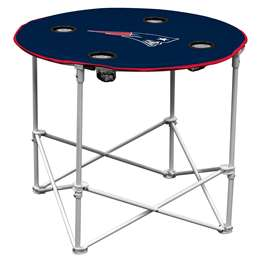 New England Patriots Round Folding Table with Carry Bag