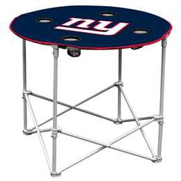 New York Giants Round Folding Table with Carry Bag