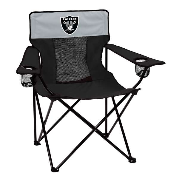 Oakland Raiders Elite Folding Chair with Carry Bag