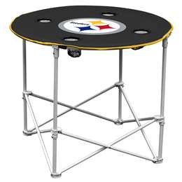 Pittsburgh Steelers Round Folding Table with Carry Bag