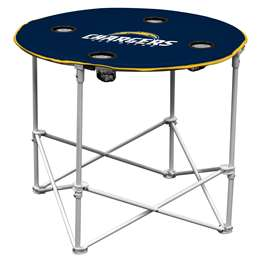 Los Angeles Chargers Round Folding Table with Carry Bag