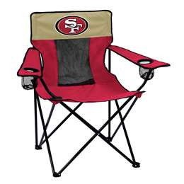 San Francisco 49ers Elite Folding Chair with Carry Bag