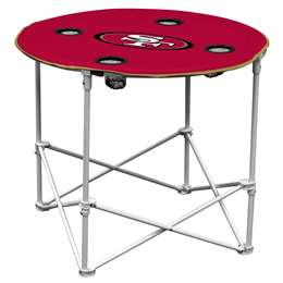 San Francisco 49ers Round Folding Table with Carry Bag