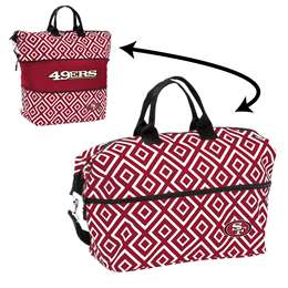 San Francisco 49ers Double Diamond Expandable Tote