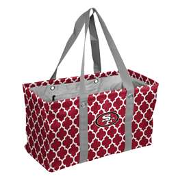 San Francisco 49ers Quatrefoil Picnic Caddy