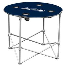 Seattle Seahawks Round Folding Table with Carry Bag