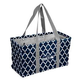 Seattle SeahawksCrosshatch Picnic Tailgate Caddy Tote Bag