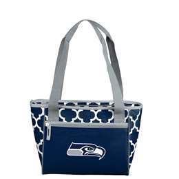Seattle Seahawks Quatrefoil 16 Can Cooler Tote