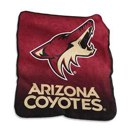 Arizona Coyotes Raschel Thorw Blanket 60 X 50 Inches
