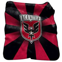 DC United 26 Raschel Throw Fleece Blanket