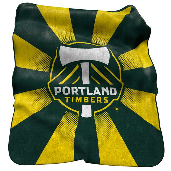 Portland Timbers Raschel Throw Fleece Blanket