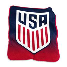 USSF United States Soccer Federation Raschel Throw Fleece Blanket