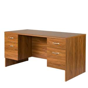 OS Home and Office 30x60 Double Pedestal Executive Desk with 2 Box and 2 File Drawers on Metal Guides