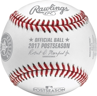 Houston Astros 2017 American League Champions Official Rawlings Baseball With Display Cube