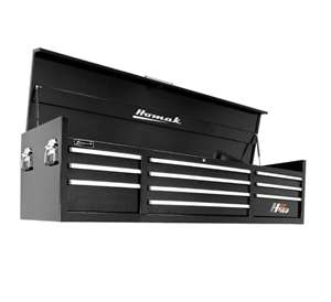 Homak H2PRO Series 72-Inch 10-Drawer Top Chest, Black