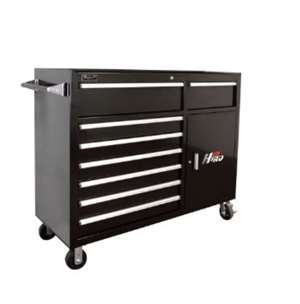 Homak H2PRO Series 56-Inch 8-Drawer with 2-Drawer Compartment Roller, Black