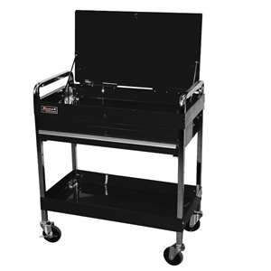 Homak 32-Inch Professional 1 Drawer Service Cart, Black