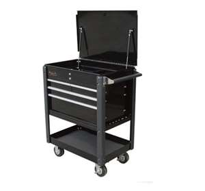 Homak 35-Inch Professional Series 4-Drawer Service Cart, Black